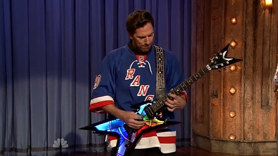 Henrik Plays Sweet Child Of Mine On Jimmy Fallon Henrik Lundqvist