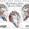 Lundqvist is ditching his normal mask for a tricked-out paint scheme that has Yankee pinstripes down the front and images of Babe Ruth, Joe DiMaggio and Lou Gehrig on the right side.