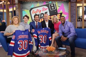 Henrik surprised him with a special game experience from #HLF #GMA & New York Rangers!